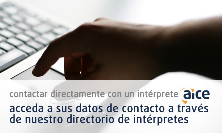 Contactar directamente con un intérprete aice